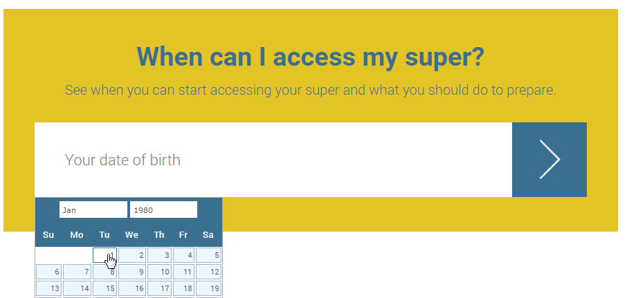 when can i access my super example